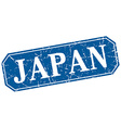 Japan blue square grunge retro style sign vector image