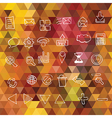 Background with triangles Web icons vector image