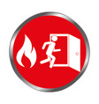 emergency route sign icon vector image