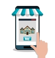 house real estate buy smartphone design vector image