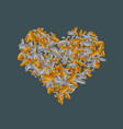 modern heart money coins on sample vector image