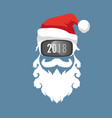 santa claus wearing virtual reality glasses vector image