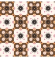 Seamless pattern design with ornament vector image