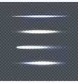 Set of Light Line on Transparent Background vector image