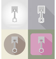 car equipment flat icons 03 vector image vector image