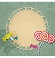gift card with candy design elements vector image