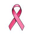 pink satin ribbon breast cancer awareness symbol vector image