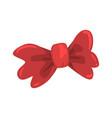 red bow tie celebration party symbol cartoon vector image