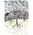 Dead Tree Sketch02 vector image
