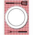 BBQ tools and plate vector image