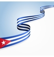 Cuban flag background vector image