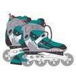 color roller skates 01 vector image