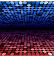 Abstract blue and red disco circles background vector image