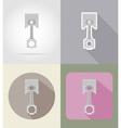 car equipment flat icons 03 vector image