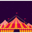 circus show poster with big top on dark background vector image