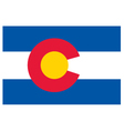 Colorado flag vector image