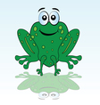 funny green frog vector image