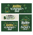 happy saint patricks day banner irish beer vector image