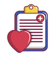 medical health card icon cartoon style vector image
