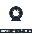 Web camera icon flat vector image
