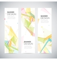 vertical banners set with polygonal abstract vector image