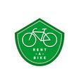 Bike rental logo Bicycle shop signboard vector image
