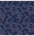 Nursery seamless pattern with color bow-tie vector image