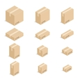 Closed cardboard boxes set vector image