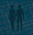 abstract image of a man and a woman i vector image