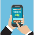 Booking online flights travel or ticket vector image