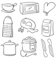 doodle of equipment kitchen object vector image
