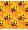 Fire seamless pattern vector image