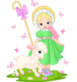 little shepherdess vector image