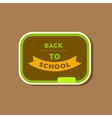 paper sticker on stylish background Back to school vector image