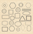 template of empty vintage postal stamps for labels vector image