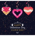 Holiday and Valentines Day hand drawing greeting vector image