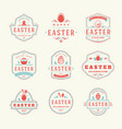 easter badges and labels design elements vector image vector image