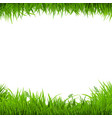 green grass borders vector image vector image
