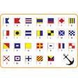 nautical flags vector image