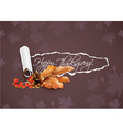 happy thanksgiving day with torn paper vector image