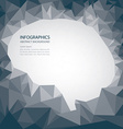 Brain Shape Abstract Background vector image