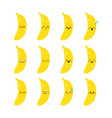 banana modern flat emoticon set vector image
