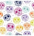 cartoon flat Day of the Dead seamless vector image