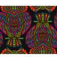 Colorful seamless pattern with hand drawn ornate vector image