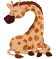 cute giraffe cartoon sleeping vector image