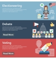 Election horizontal banners set with flat voting vector image