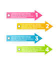Modern infographic colorful design template vector image
