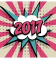 New year 2017 pink background vector image
