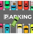 Parking Conceptual Web Banner Car Leaves Place vector image