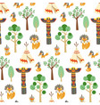 seamless pattern texture with foxes in vector image